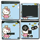 Hello Kitty Blue Sky Birds Teddy Bear Video Game Vinyl Decal Skin Sticker Cover for Nintendo GBA SP Gameboy Advance System