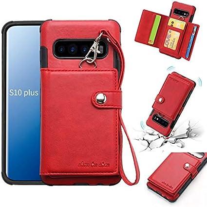 DarcyOD Para el Estuche Samsung Galaxy S10 Plus, contraportada de Cuero Durable de PU con Ranuras