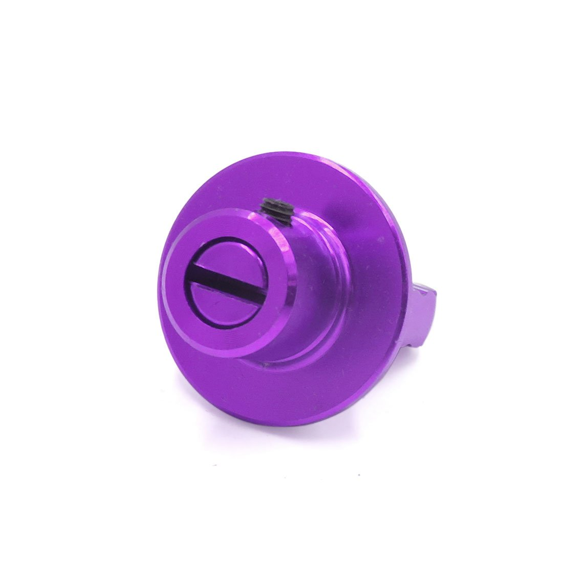 uxcell Aluminum Alloy Keychain Key Head Cover Purple for Motorcycle Scooter