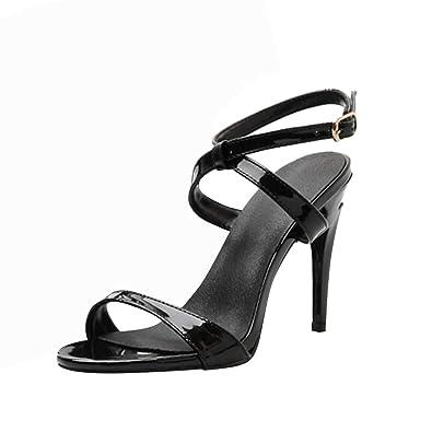 Damen Sandaletten High Heels Knöchelriemchen Sandalen Absatz
