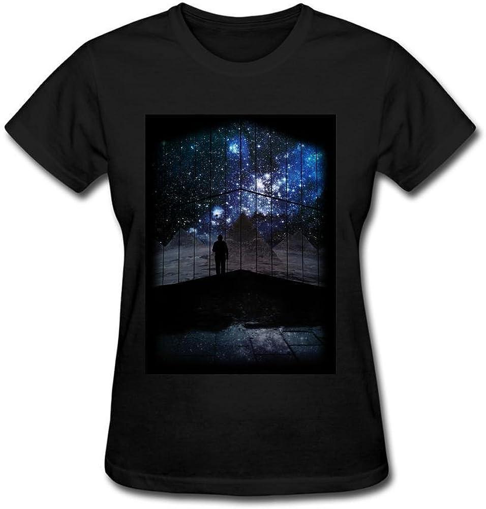 Desconocido yonghui77 Galaxy Ventana de Manga Corta Camiseta de la Mujer