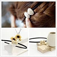 Fashion 1Pcs Pearls Bow Girls Headband Lady Hairband Hair Accessories Alloy