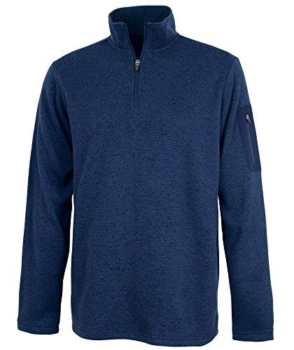 Charles River Apparel Men's Heathered Fleece Pullover, Navy, XL