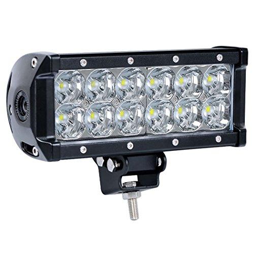 Tripcraft 36W Spot Light Bar,7 Inch 6120LM Off Road Driving Lighting for 4WD Truck Car SUV ATV UTV Jeep Pickup (36W Spot Light Bar)