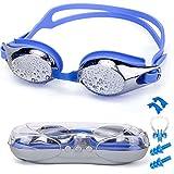 SIXBOX Swim Goggles leak free anti UV lens adjustable shoulder strap Triathlon Swimming Goggles Anti fog nose clip, Ear adult male, Female, Kids,Youth