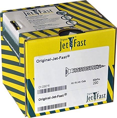1144/X 50/N Jet de Fast Original universal Tornillos 4,0/x 50/mm cabeza Pozi 200/unidades amarillo