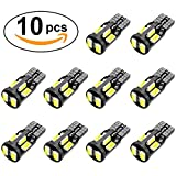 #7: 10Pcs, 194 LED Bulb, Super Bright 168 2825 W5W T10 Wedge LED Bulbs, Interior Car Led Lights Error Free for Car Interior Dome Map Door Courtesy License Plate Lights, RV Camper, 12V White