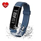 ANGINSTAR Fitness Tracker, IP67 Waterproof Dustproof Smart Band with Heart Rate Monitor, Sleep Monitor Step Counter Activity Tracker for Women Men Kids for Android & iOS Phones