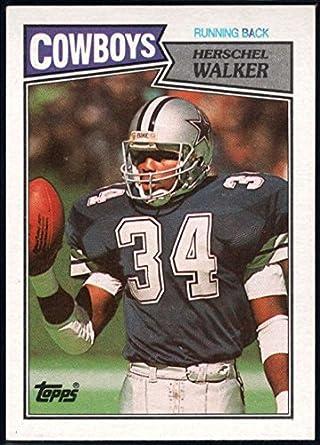 72be2da0c02 Amazon.com: Football NFL 1987 Topps #264 Herschel Walker NM-MT+ RC ...