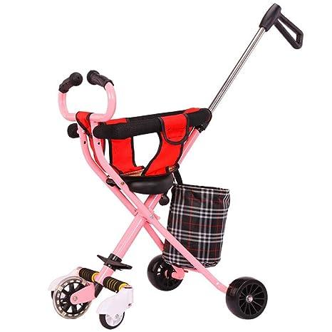 SMLZV Carro for niños Plegado Ligero Triciclo for niños ...
