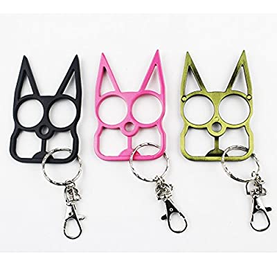 Lovelyou Cat Self Defense Keychain Keyrings, Cat Ears Ring, Emergency Survival Tool