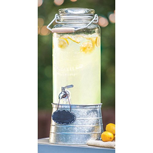 L Glass Drink Dispenser