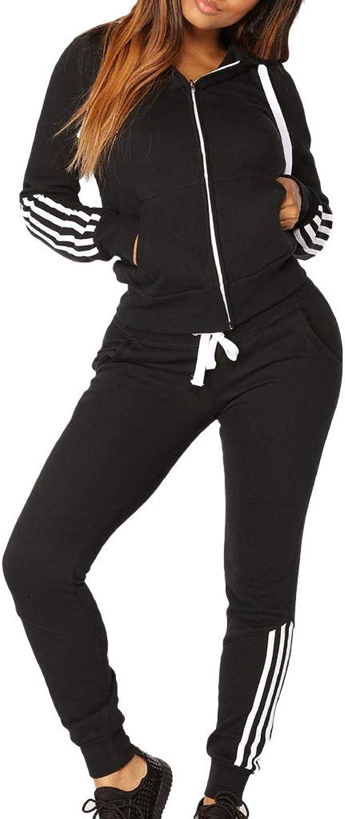 UK Women/'s Tracksuit Hoodies Sweatshirt Pants Sets Sport Wear Nice Casual Suit