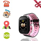 Kids Smart Watches Phone - 1.4' Touch Screen Children Phone Wristwatch with Call SOS Voice Chat Camera Flashlight Alarm Learning Games Toy Birthday Gifts for Boys Girls Age 4-12 (02 GM9 Pink)