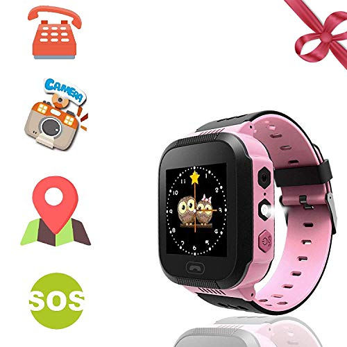 """Kids Smart Watches Phone - 1.4"""" Touch Screen Children Phone Wristwatch with Call SOS Voice Chat Camera Flashlight Alarm Learning Games Toy Birthday Gifts for Boys Girls Age 4-12 (02 GM9 Pink)"""