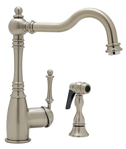 Blanco 157-052-ST Grace Kitchen Faucet with Side Spray, Satin Nickel ...