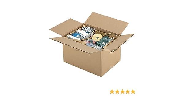 Propac z-boy403030b caja cartón un onda Avana, 40 x 30 x 30 cm ...