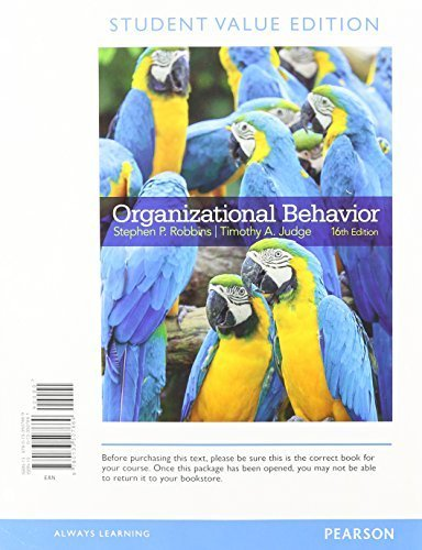 organisational behavior book summary Organizational behavior is the systematic study of human behavior, attitudes and performance within an organizational setting drawing on theory methods and principles from such disciplines as psychology, sociology and cultural anthropology to learn about individual perceptions, values, learning.