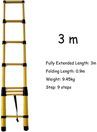 GYX Escaleras Extensibles con Ganchos, Escalera Loft Plegable Telescópica, Mantenimiento de Edificios Multiusos,3m: Amazon.es: Bricolaje y herramientas