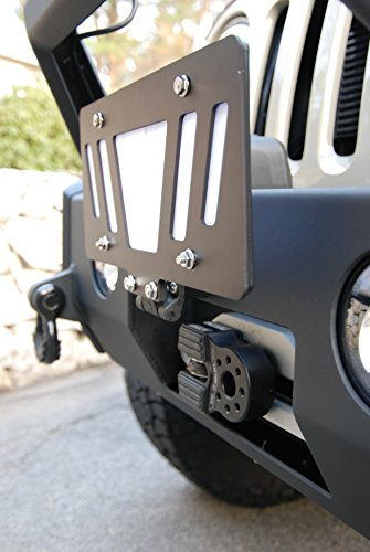 - Cascadia 4x4 Flipster Universal - Flip up/Flip Down License Plate Mounting System for Winch, Trailer Hitch, etc - Made in USA/Canada