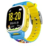 Tencent QQwatch Kids GPS Wrist Watch Phone with Real-time GPS Tracking / SOS Emergency Call (EU Version, Blue)