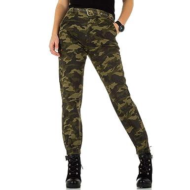 1d1768ab28dbba Ital-Design High Waist Camouflage Jeans Für Damen: Amazon.de: Bekleidung