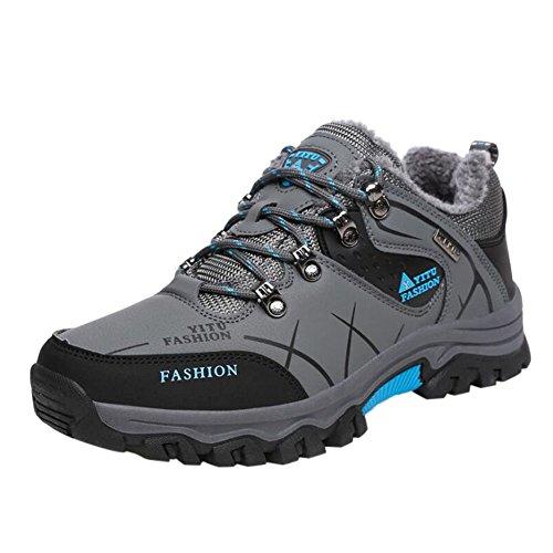 Meijunter Herren Wanderschuhe High Top Trekking Schuhe Rutschfeste Outdoor Warm Waterproof Walking Klettern Sneakers QCg8t