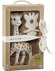 VULLI Sophie la girafe met 1 fopspeen/bijtring SO'PURE, beige, 616624