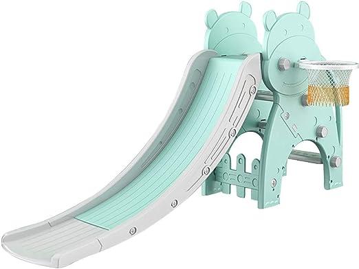 Easels Tobogán Primer tobogán for niños, niños, for fácil Almacenamiento, Uso for Patio de Juegos de jardín Interior y Exterior (Color : Green): Amazon.es: Hogar