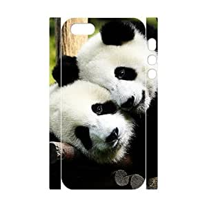ALICASE Diy Customized Case Panda 3D Case for iPhone 5,5S [Pattern-1]