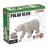 polar bear puzzle - 4D Master Polar Bear Model Puzzle (24 Piece), One Color