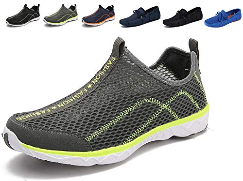 - Adadila Men's Quick Drying Aqua Water Shoes Grey 9.5/43