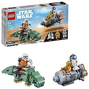 LEGO Star Wars - Microfighters: Cápsula de Escape vs. Dewback, juguete de construcción con minifiguras R2-D2 y C-3PO de La Guerra de las Galaxias (75228)