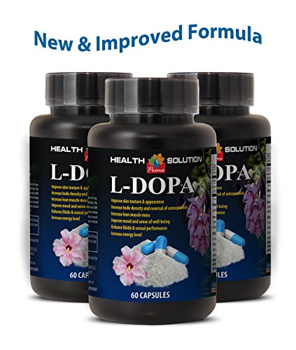 Dopamine diet - L-DOPA (MUCUNA PRURIENS EXTRACT) - Dopa vit - 3 Bottles 180 Capsules by Health Solution Prime