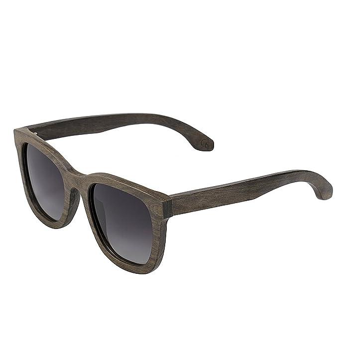 Gafas de sol de Madera, BEDATE G003A wood sunglasses con Polarizadas 100% UV Protección