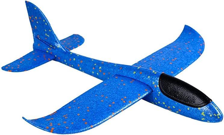 Abboard Throwing Schiuma Aliante Aereo, Aeroplano Giocattolo, lanciare Aereo Giocattoli Set di Schiuma DIY Flying Plane Manuale Circling in gommapiuma