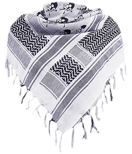Military Shemagh Tactical Desert 100% Cotton Keffiyeh Scarf Wrap by Aonal