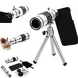 Goodkssop 18X Aluminum Manual Focus Telephoto Optical Zoom Telescope Camera Lens Tripod Kit + Back Case For Samsung Galaxy S4/S5S/S6/S7/Note3/Note4/Note5 (For Samsung Galaxy S7)