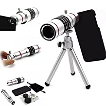 Goodkssop 18X Aluminum Manual Focus Telephoto Optical Zoom Telescope Camera Lens Tripod Kit + Back Case For Samsung Galaxy S4/S5S/S6/S7/Note3/Note4/Note5 (For Samsung Galaxy S7)