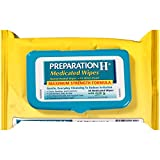 Preparation H Flushable Medicated Hemorrhoid Wipes, Maximum Strength Relief with Witch Hazel and Aloe, Package (48 Count)