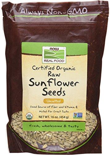 (NOW Foods Organic Raw Sunflower Seeds - 16)