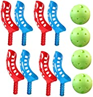 Scoop Ball Game Outdoor Toy for Kids and Adults, Scoop Ball Game Scoop and Ball Toss Set Toss Catch Game Toy B
