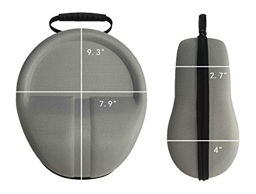 Headphones Protective Case Headset Full-Sized Hard Shell Storage Travel Bag for Audio Technica Sennheiser Monster Beats Bose QuietComfort 35 25 Sony AKG SteelSeries Siberia + More Headphones - (Grey)