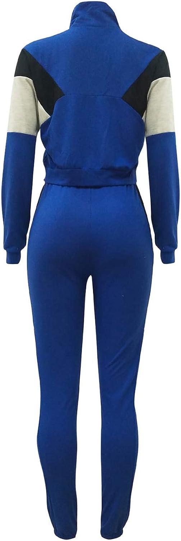 Top-Vigor Womens 2PCS Sweatsuits Set Long Sleeve Top and Bodycon Pants Jogging Suit Tracksuit for Women Ladies Plus Size