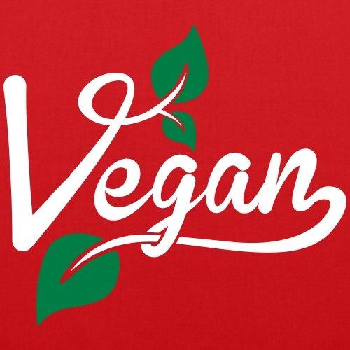 Spreadshirt Vegan Blätter Stoffbeutel Rot XeBcvClaN1