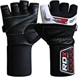 RDX Men's Leather Gym Weight Lifting Gloves 3.5