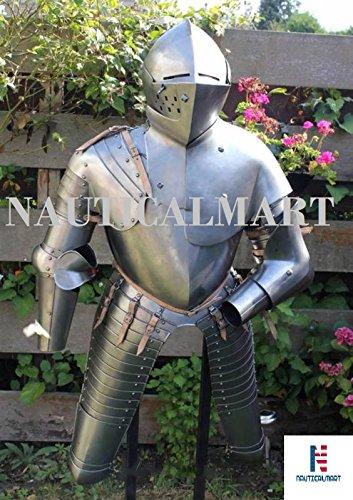NauticalMart Medieval Reenactment Gothic Steel Half Suit Of Armor Halloween Costume by NAUTICALMART (Image #2)