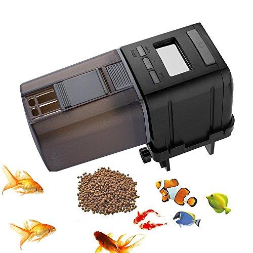 JunBo Automatic Fish Feeder with LCD Display Fish Food Dispenser for Fish Tank Aquarium ()