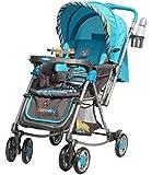 Sunbaby Blue Aurora Rocking Stroller (Blue)