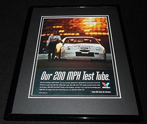 Mark Martin 1997 Valvoline Motor Oil Framed 11x14 ORIGINAL Advertisement